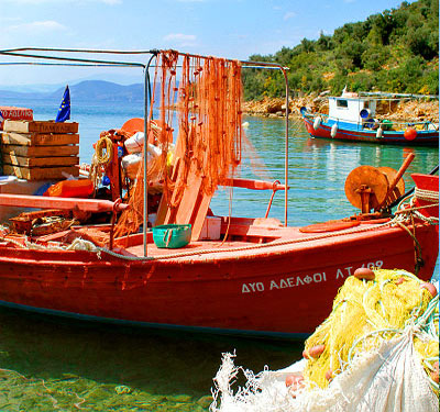 Fishing boats at Trikeri