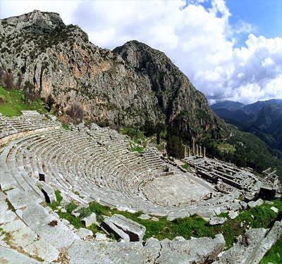 The ancient Oracle at Delphi